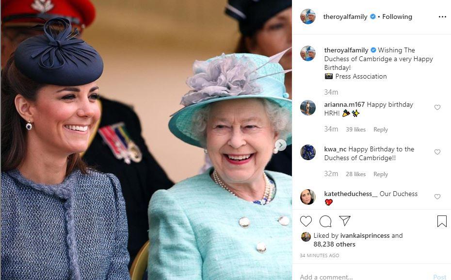 الحساب الملكى يحتفل بعيد ميلاد كيت ميدلتون
