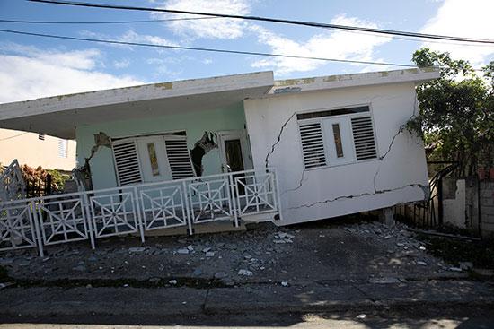 نهيار المنازل اثر الزلزال