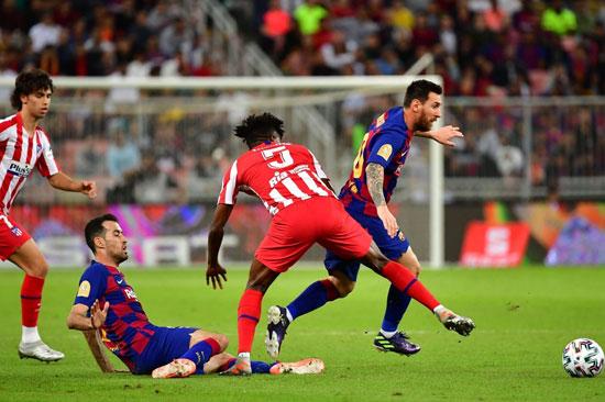 ميسي-خلال-لقاء-برشلونة-واتلتيكو-مدريد