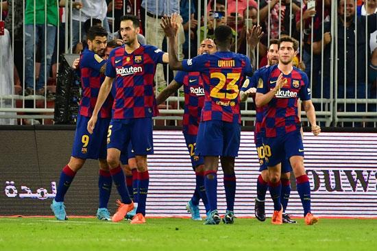 احتفال-نجوم-برشلونة