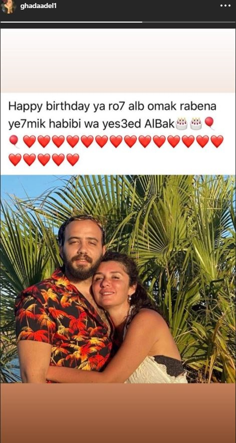 غادة عادل تنشر صورة مع نجلها عبر انستجرام