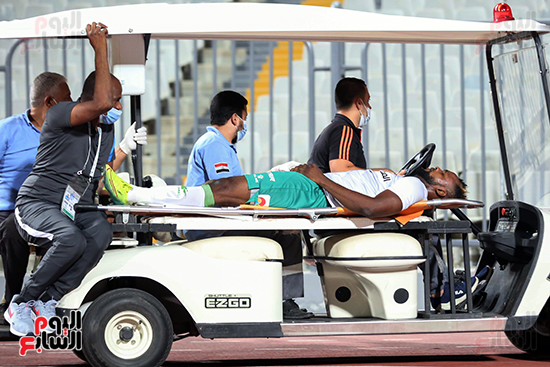 نقل لاعب المصري للمستشفى