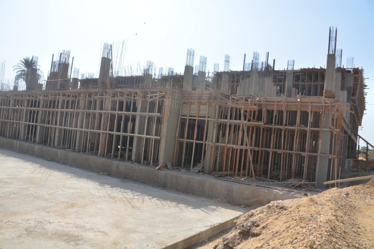 أعمال إنشاء مستشفى طوخ المركزى