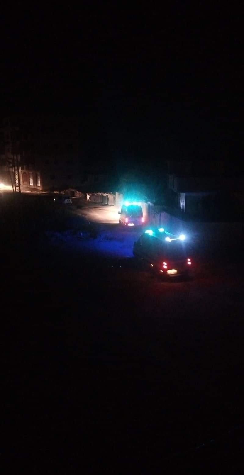 سيارة الإسعاف فى طريقها لموقع الحادث (1)