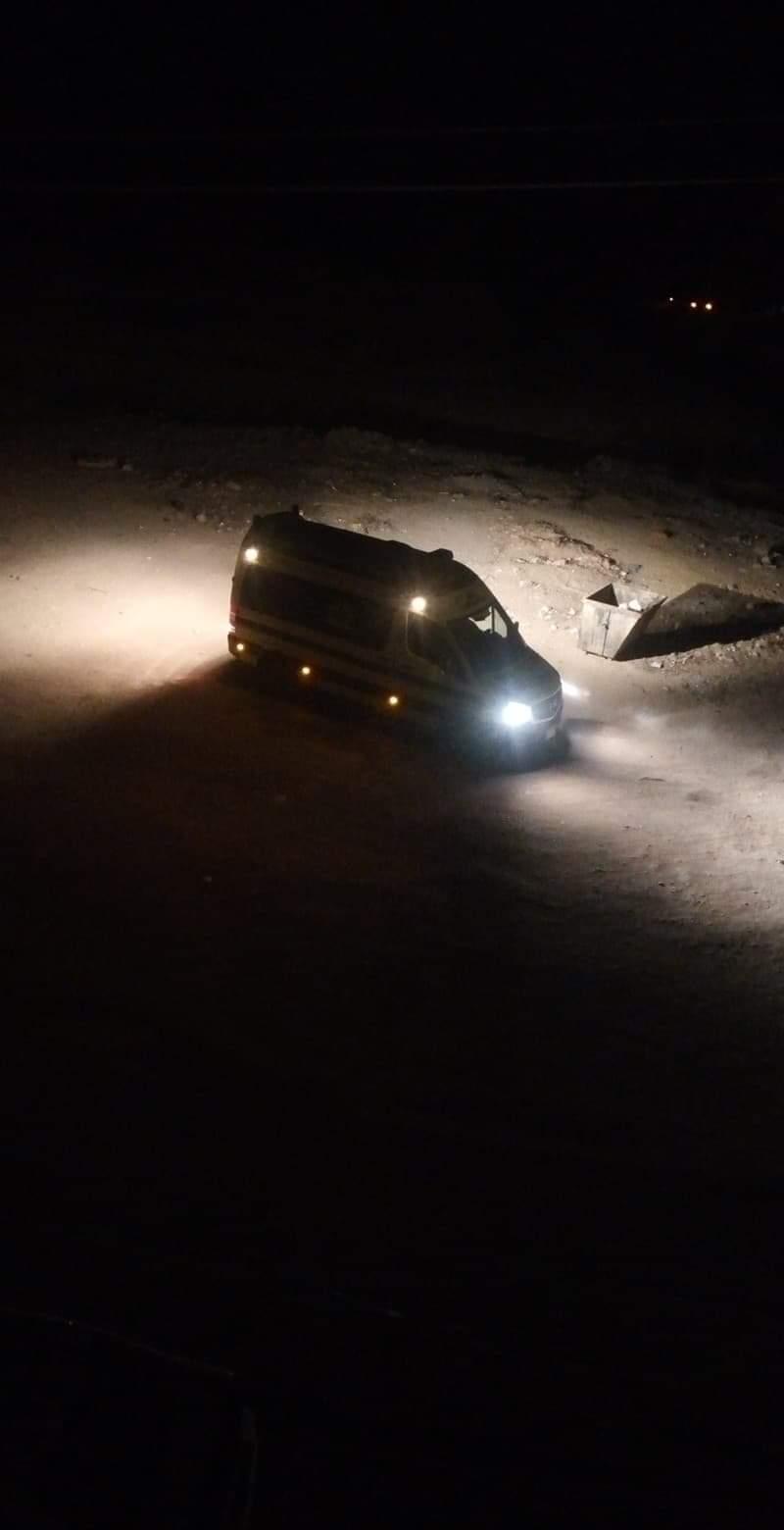 سيارة الإسعاف فى طريقها لموقع الحادث (5)