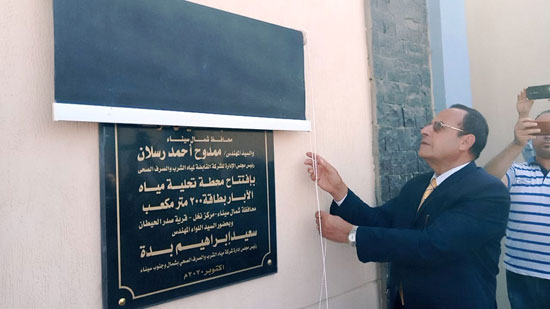 محافظ شمال سيناء يفتتح 3 محطات لتحلية المياه (5)