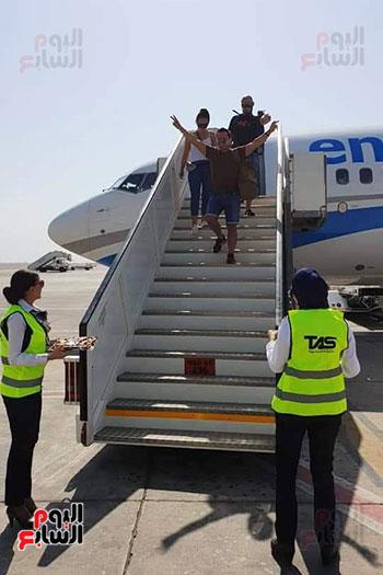 مطار شرم الشيخ الدولى يستقبل رحلة قادمة من بولندا (6)