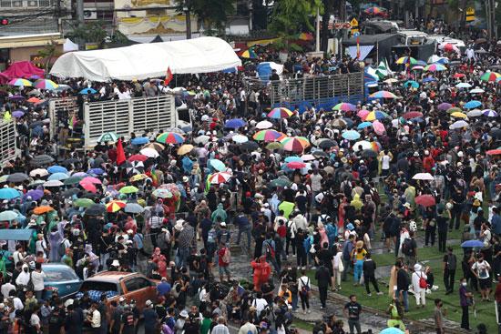 متظاهرو تايلاند فى الميادين الرئيسية بالعاصمة