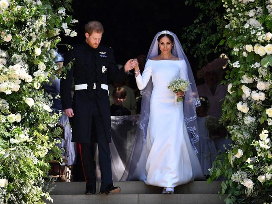 فستان زفاف ميجان