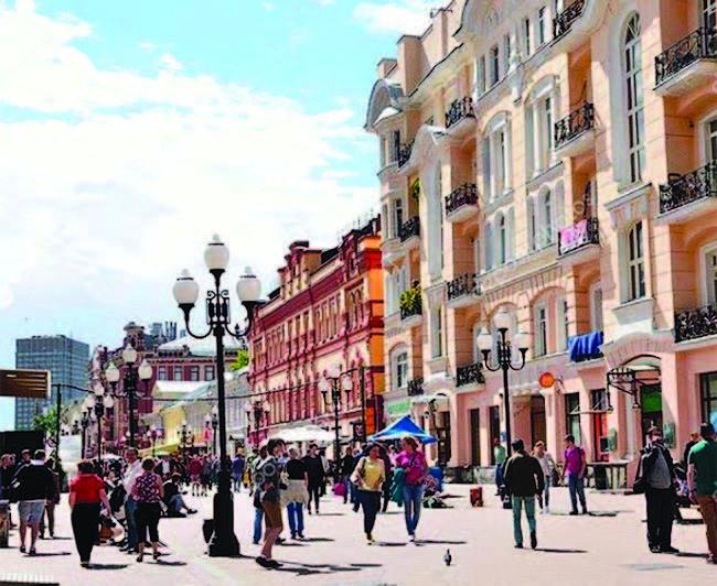 السير فى شوارع موسكو