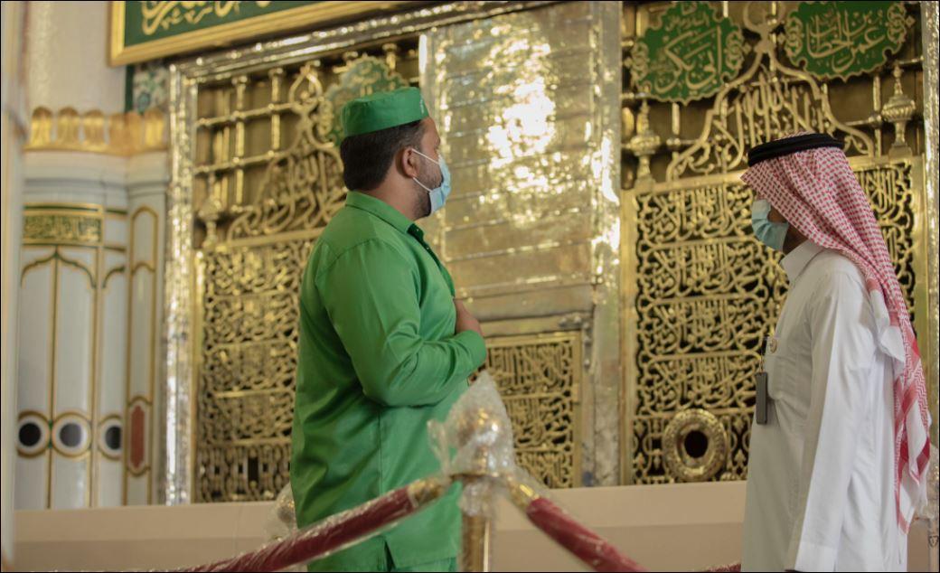 استعدادات لاستقبال قاصدات المسجد النبوى لتأديتهم المناسك  (6)