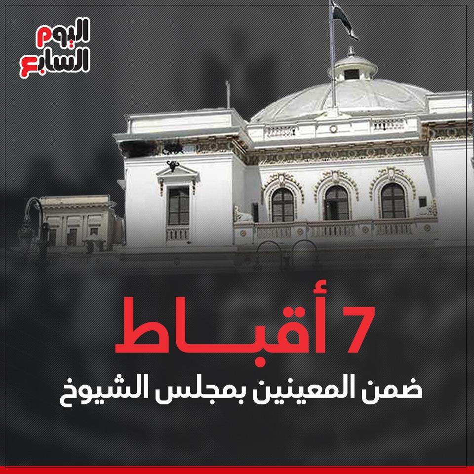 7 أقباط ضمن المعينين بمجلس الشيوخ (1)