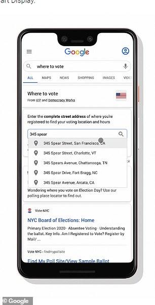 جوجل والانتخابات الامريكية