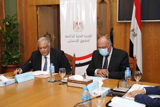 سامح شكرى وزير الخارجية ورئيس اللجنة العليا الدائمة لحقوق الإنسان (7)