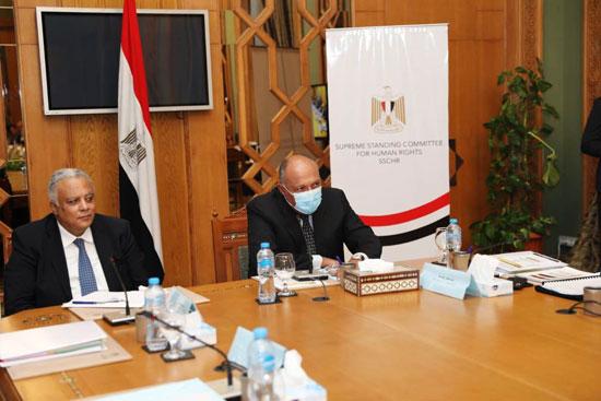 سامح شكرى وزير الخارجية ورئيس اللجنة العليا الدائمة لحقوق الإنسان (11)