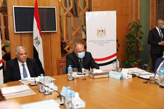 سامح شكرى وزير الخارجية ورئيس اللجنة العليا الدائمة لحقوق الإنسان (13)