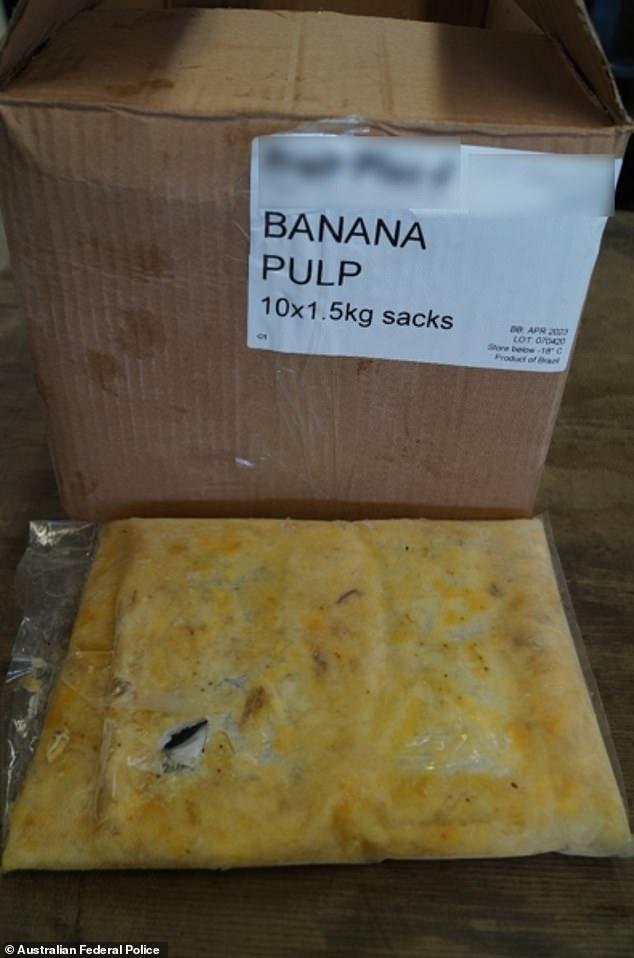 صندوق من شحنة الموز