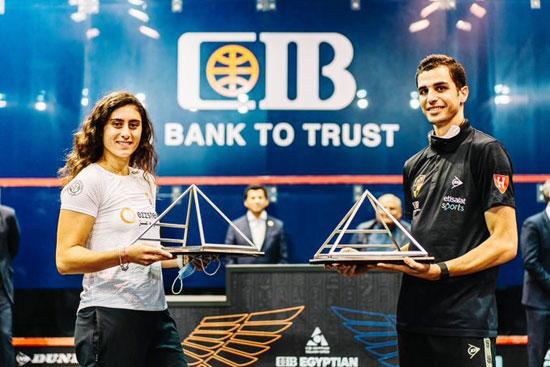 تسليم جوائز بطولة مصر الدولية للإسكواش (3)