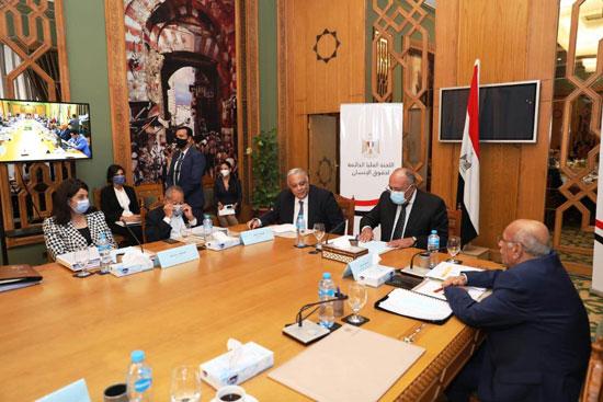 سامح شكرى وزير الخارجية ورئيس اللجنة العليا الدائمة لحقوق الإنسان (3)