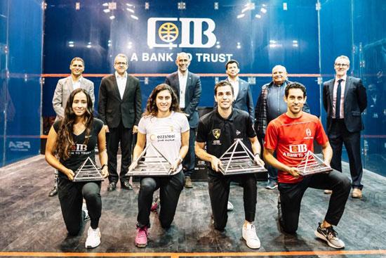 تسليم جوائز بطولة مصر الدولية للإسكواش (1)