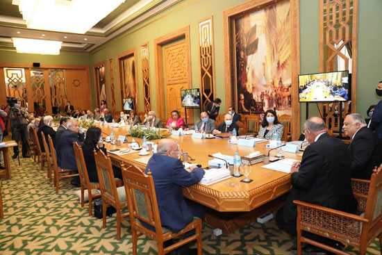 سامح شكرى وزير الخارجية ورئيس اللجنة العليا الدائمة لحقوق الإنسان (2)