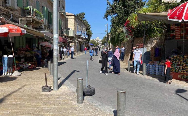 شوارع القدس بعد انتهاء الاغلاق