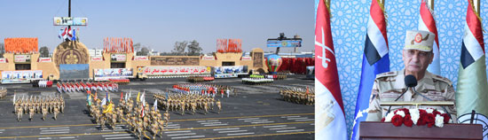 وزير الدفاع يشهد الاحتفال بتخريج دفعات جديدة من المعاهد الصحية (1)
