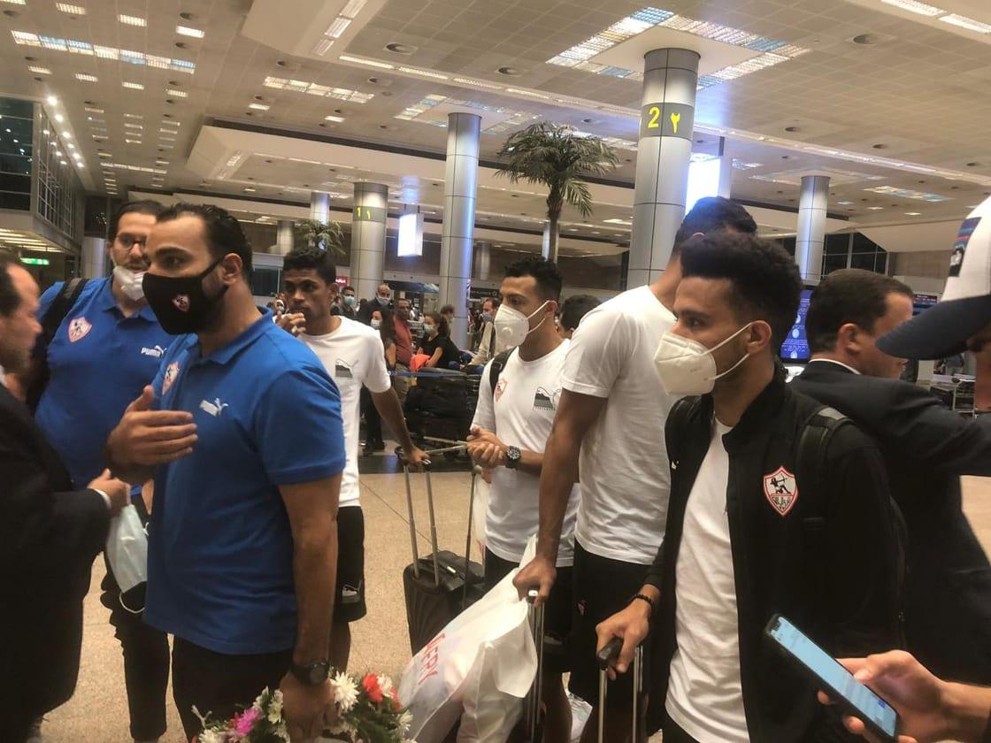 وصول بعثة الزمالك لمطار القاهرة