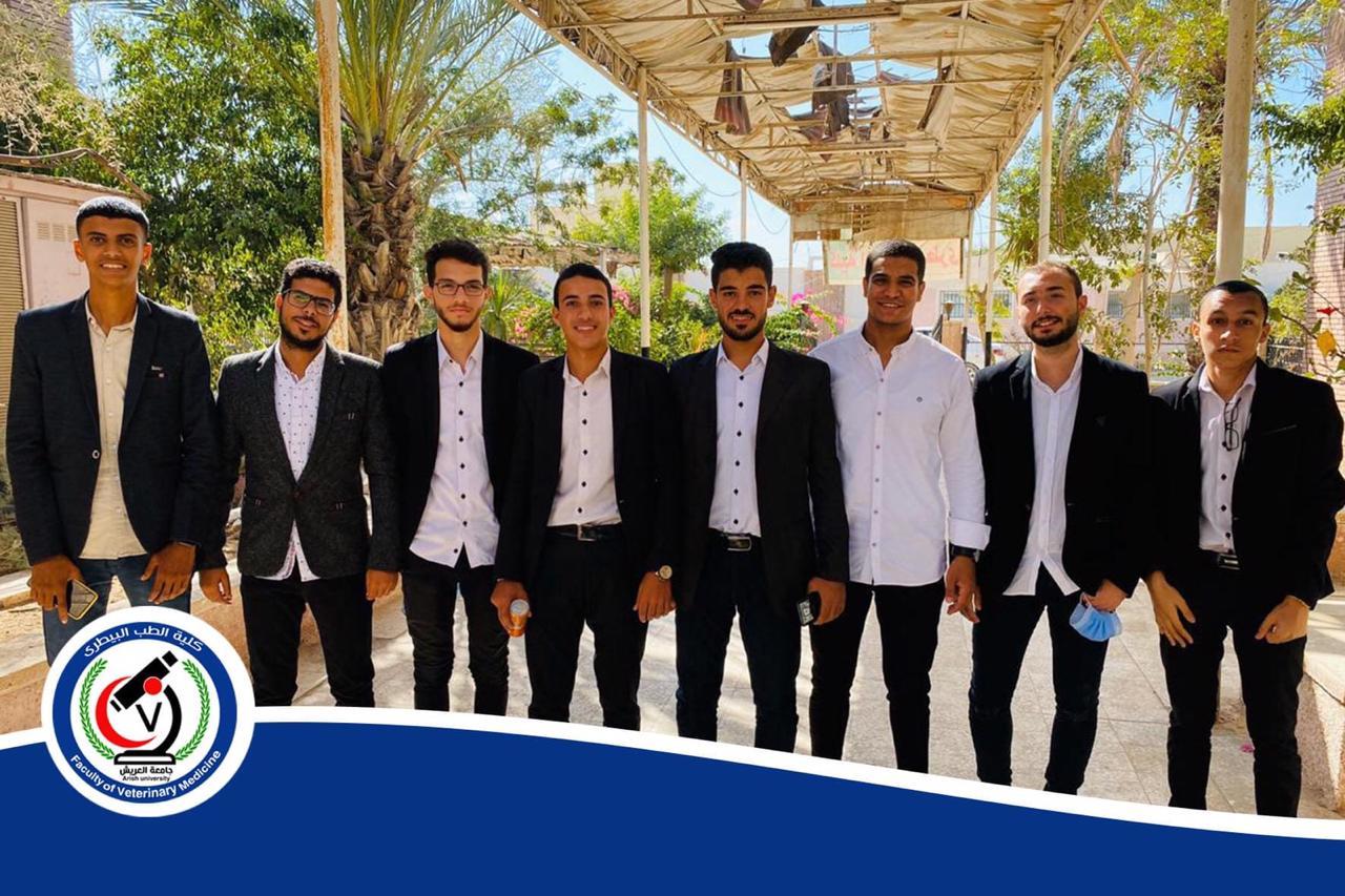 استقبال طلاب كلية الطب البيطرى بجامعة العريش (1)