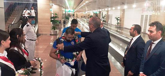 وصول بعثة الزمالك للقاهرة عقب الفوز على الرجاء فى ذهاب دورى الأبطال (23)