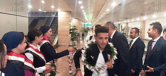 وصول بعثة الزمالك للقاهرة عقب الفوز على الرجاء فى ذهاب دورى الأبطال (18)