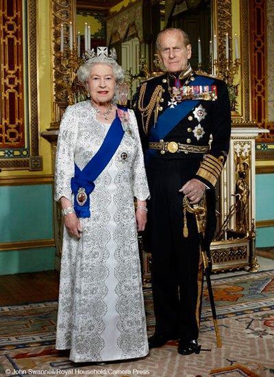 الملكة اليزالبيث والأمير فيليب