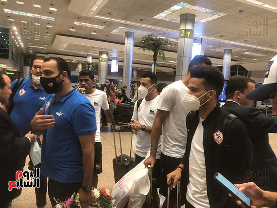 وصول بعثة الزمالك للقاهرة عقب الفوز على الرجاء فى ذهاب دورى الأبطال (35)