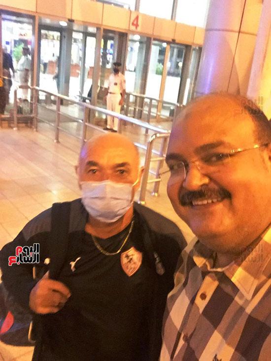 وصول بعثة الزمالك للقاهرة عقب الفوز على الرجاء فى ذهاب دورى الأبطال (7)