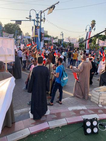 احتفالية حاشدة بذكر نصر أكتوبر ودعم الدولة والرئيس فى أسيوط (4)