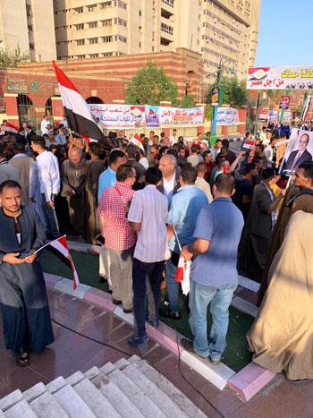 احتفالية حاشدة بذكر نصر أكتوبر ودعم الدولة والرئيس فى أسيوط (2)