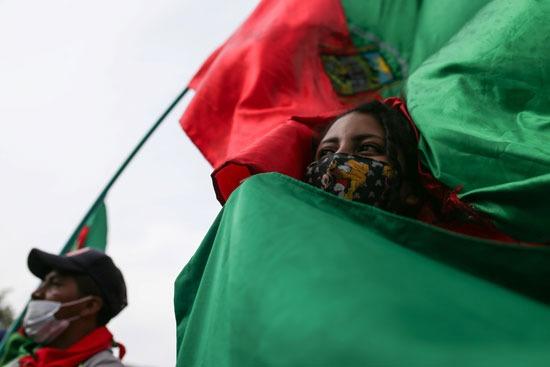 احتجاجات السكان الأصليين فى كولومبيا (8)