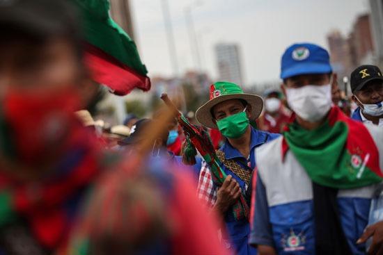 احتجاجات السكان الأصليين فى كولومبيا (7)