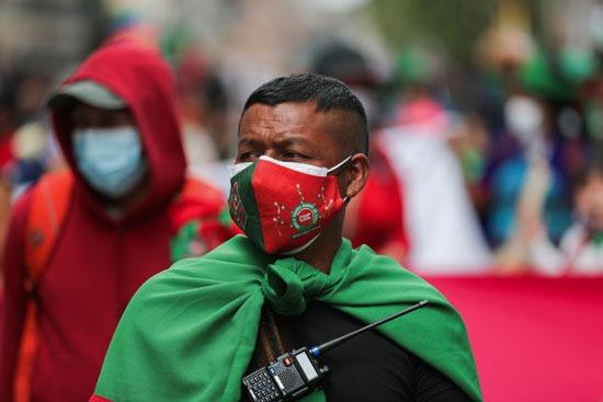 احتجاجات السكان الأصليين فى كولومبيا (4)