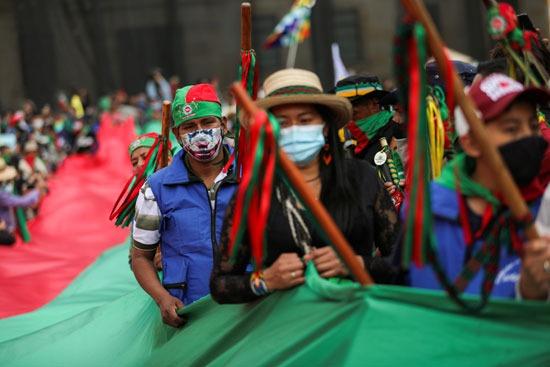 احتجاجات السكان الأصليين فى كولومبيا (12)
