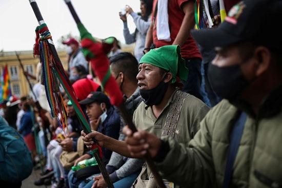 احتجاجات السكان الأصليين فى كولومبيا (13)