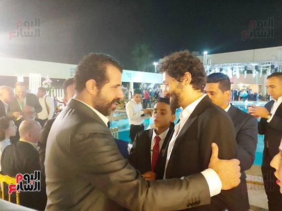 يحتفل الفنان  سليمان  عيد بعقد قران وزفاف نجلته سلمى (4)