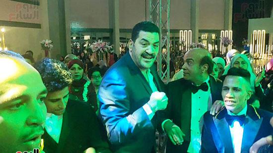 يحتفل الفنان  سليمان  عيد بعقد قران وزفاف نجلته سلمى (7)