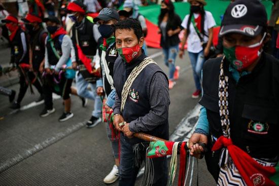 احتجاجات السكان الأصليين فى كولومبيا (2)