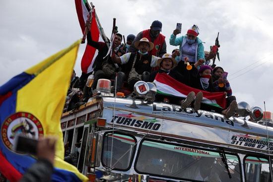 احتجاجات السكان الأصليين فى كولومبيا (5)