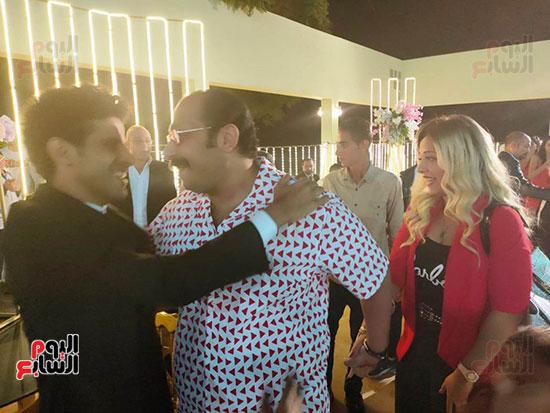يحتفل الفنان  سليمان  عيد بعقد قران وزفاف نجلته سلمى (10)
