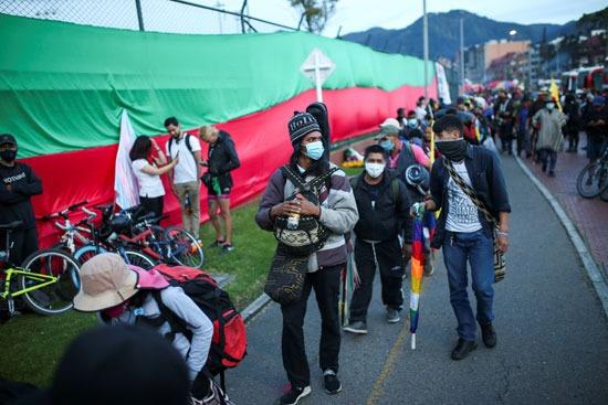 احتجاجات السكان الأصليين فى كولومبيا (6)