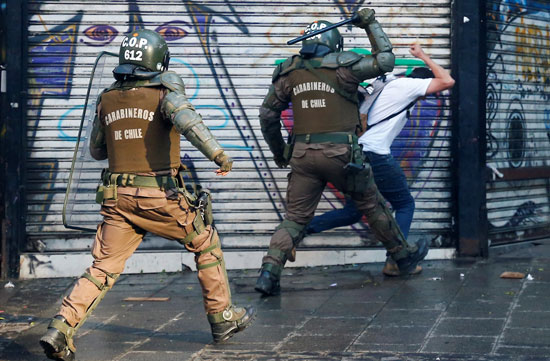 عنف شرطة تشيلى