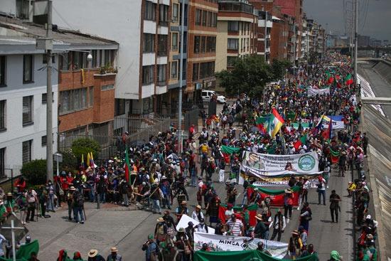 احتجاجات السكان الأصليين فى كولومبيا (3)