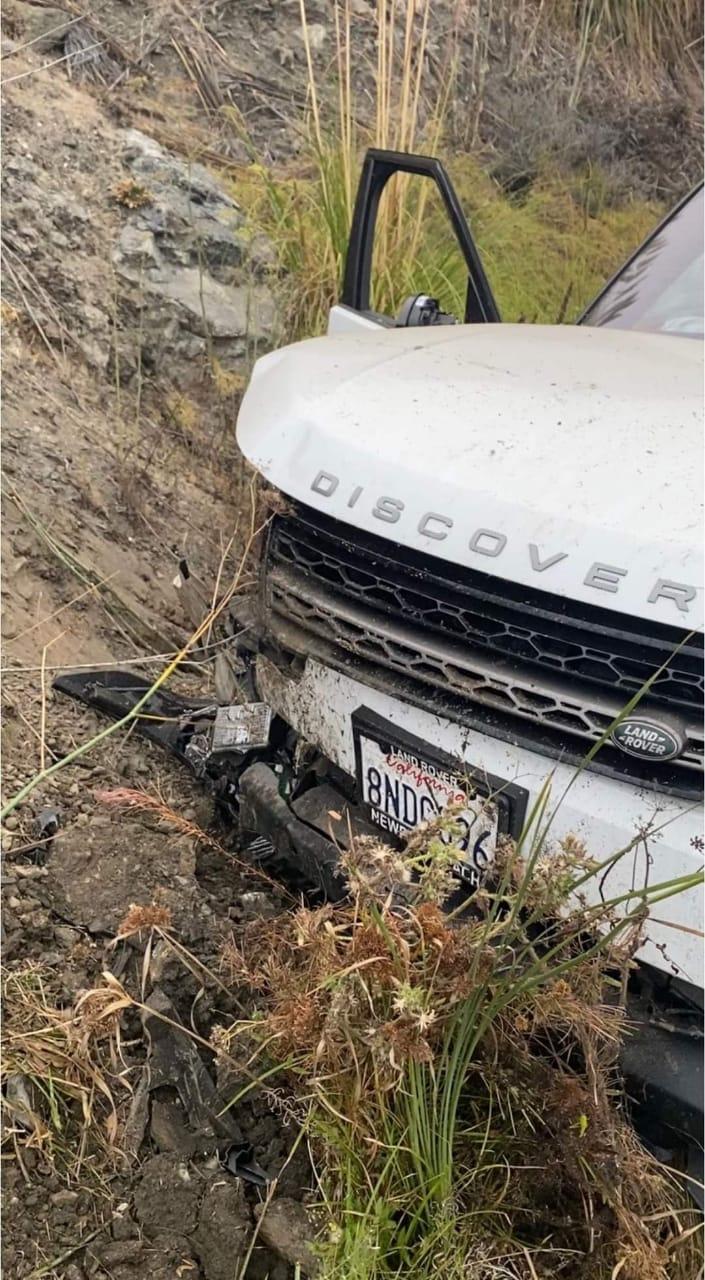سيارة محمد كريم بعد الحادث
